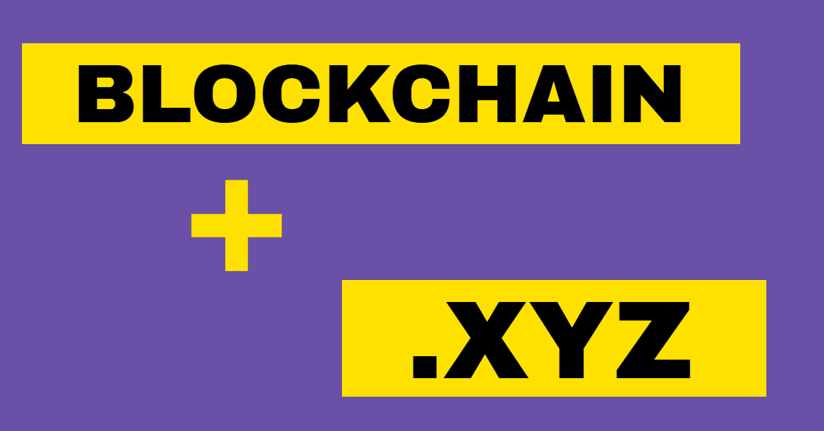 Blockchain companies are showing interest in .XYZ domain names - www.nicenic.net